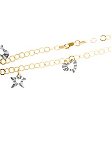 9ct Yellow and White Gold Bracelet!