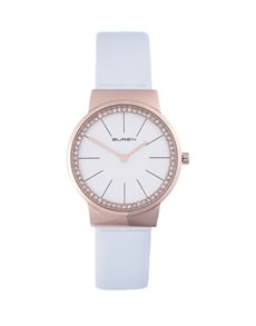 Buren Ladies Rose Gold and White Watch!