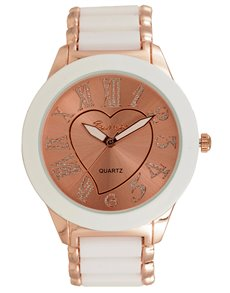 Watches: Bad Girl Carmen White & Rose gold Watch !