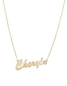 Branded - All Branded Jewellery: MeMi Identity Standard 9ct Yellow Gold Name Dia!