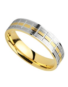 Picture of 9kt white and yellow gold fancy wedding band!