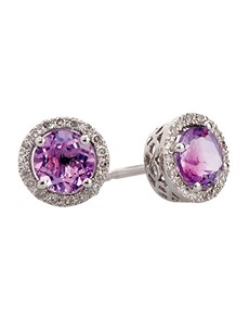 Picture of Amethyst And Diamond Earrings!