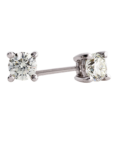 Picture of 18kt White Gold 0.30ct Diamond Solitaire Studs!