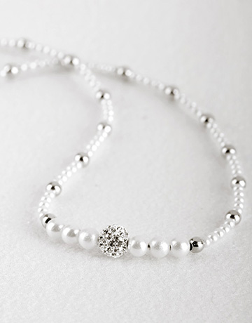 Pendants and Chains - Silver: Silver Cubic Bead Necklace!
