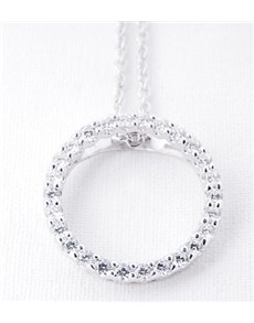Pendants and Chains - Silver: Silver Circle Of Life Necklace!