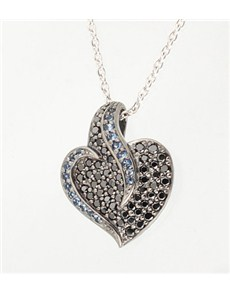 Pendants and Chains - Silver: Silver Cubic Heart Shape Necklace!