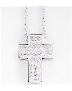 Pendants and Chains - Silver: Silver Cubic Cross Necklace!