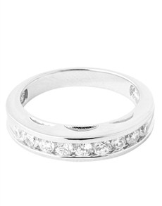 Rings: Silver Channel Cubic Eternity Ring!
