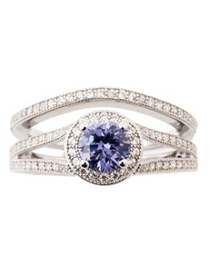 Rings - All Rings: Silver Cubic Tanzanite Ring!