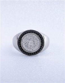 Picture of Silver Gents Cubic Ring!