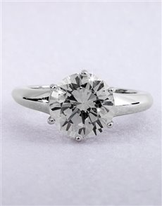 Rings - All Rings: Silver Cubic Zirconia Solitaire Ring!