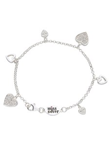Branded - All Branded Jewellery: Miss Silver Cubic Heart Charm Bracelet!