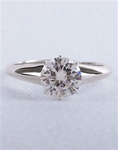 Rings: Silver Cubic Solitaire Ring!