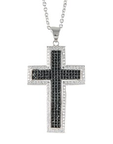 Pendants and Chains - Silver: Silver Cubic Cross!