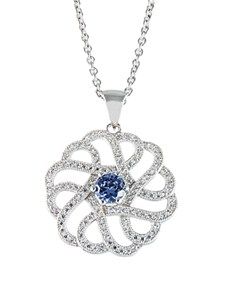 Pendants and Chains - Silver: Silver Cubic Flower Necklace!