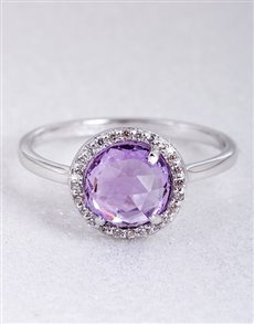 Rings: Silver Amethyst and Cubic Ring!