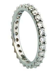 Picture of 18kt White Gold For Life Full Eternity Ring!