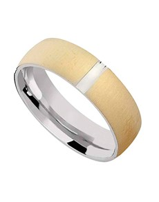 Rings: Silver and gold plated wedding band!