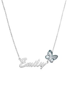 Branded - All Branded Jewellery: MeMi Identity Silver Birthstone Name Necklace!