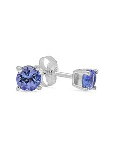 Picture of Sterling Silver Claw Tanzanite Studs 0.50ct!