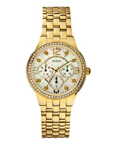 Watches: Guess Retro Glam Gold Watch!