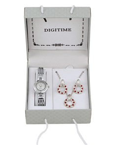 Watches: Digitime Bangle and Jewellery Set Round Watch !